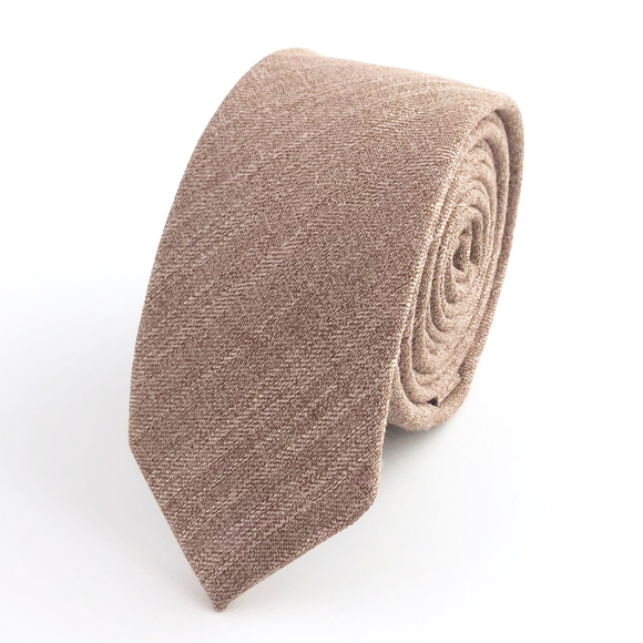 32d9971c0ce9 Groomsland Accessories | Mens Slim Static Tan Necktie | Poshmark